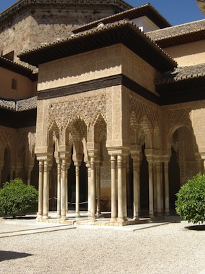 The palace of Alhambra in Granada