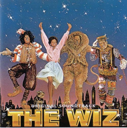 The picture from The Wiz of the four main characters skipping along together.